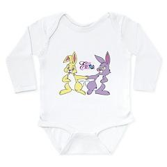 Happy Easter Long Sleeve Infant Bodysuit