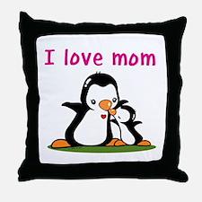 I Love Mom (2) Throw Pillow