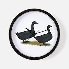Cayuga Duck Pair Wall Clock