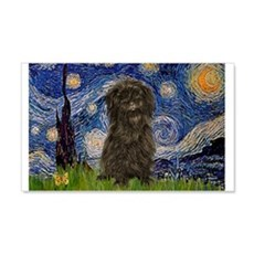 Starry Night / Affenpinscher Wall Decal