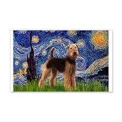 Starry Night - Airedale #6 Wall Decal