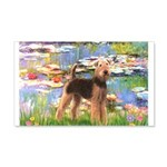 Lilies#2 - Airedale #6 20x12 Wall Decal