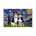 Starry - Twp Aussies (scarvs) 22x14 Wall Peel