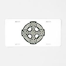 Celtic Cross Aluminum License Plate