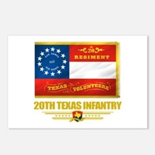 20th Texas Infantry Postcards (Package of 8)