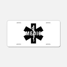 Medic EMS Star Of Life Aluminum License Plate