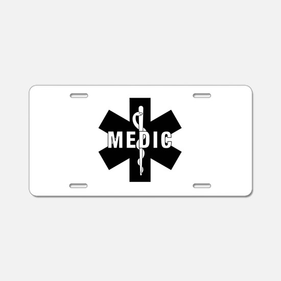 Medic EMS Star Of Life Aluminum License Plate