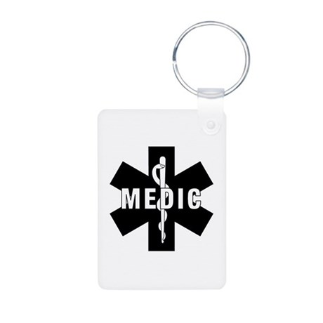 Medic EMS Star Of Life Aluminum Photo Keychain
