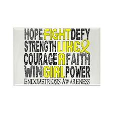 Licensed Fight Like A Girl 23.3 E Rectangle Magnet