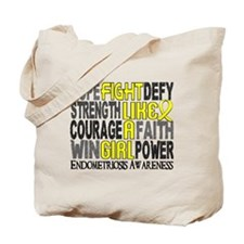 Licensed Fight Like A Girl 23.3 Endometri Tote Bag