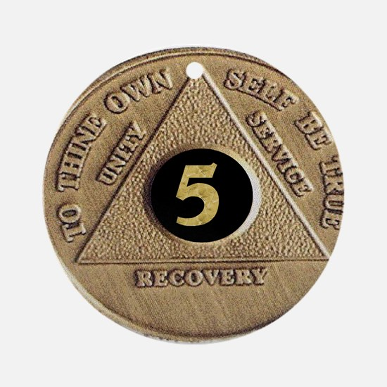 5 YEAR COIN Ornament (Round)