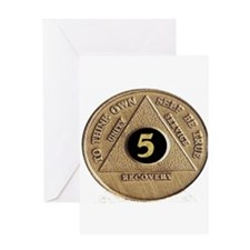 5 YEAR COIN Greeting Card