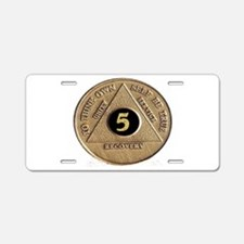 5 YEAR COIN Aluminum License Plate