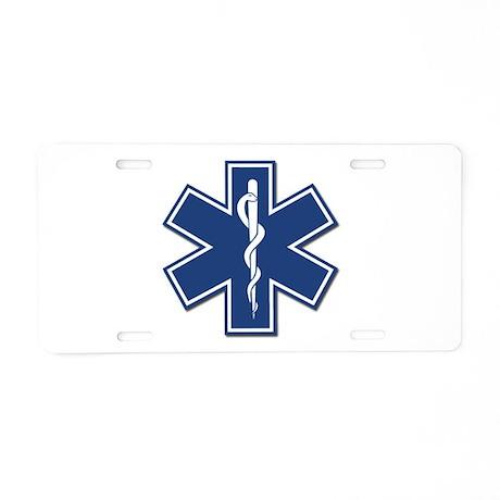 EMT Rescue Aluminum License Plate