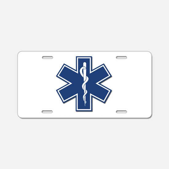 EMT Rescue Aluminum License Plate