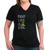 Awareness endometriosis Womens V-Neck T-shirts (Dark)