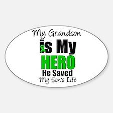 Grandson Hero Saved Son Decal