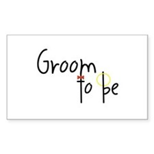 Groom To Be Rectangle Decal