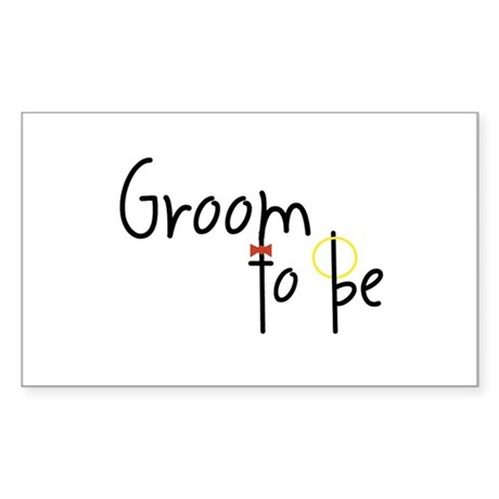 Groom To Be Rectangle Sticker