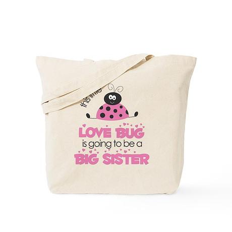 Pink Love Bug Tote Bag