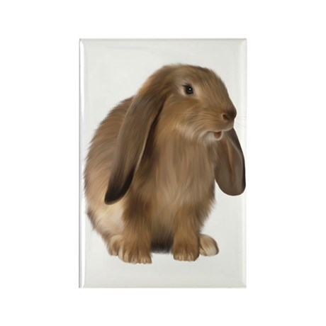 Bunny Rectangle Magnet (100 pack)
