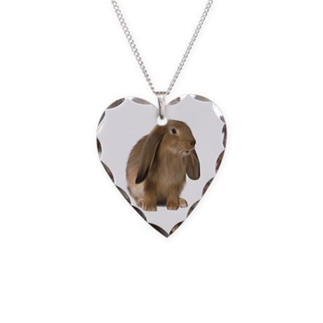 Bunny Necklace Heart Charm