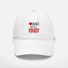 I Love Charlie He Is A Winner Baseball Baseball Cap