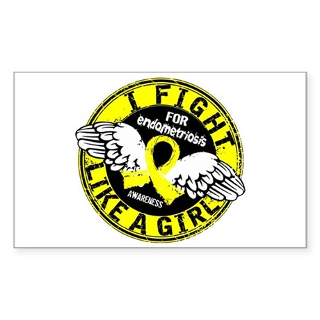 Licensed Fight Like A Girl 16. Sticker (Rectangle)