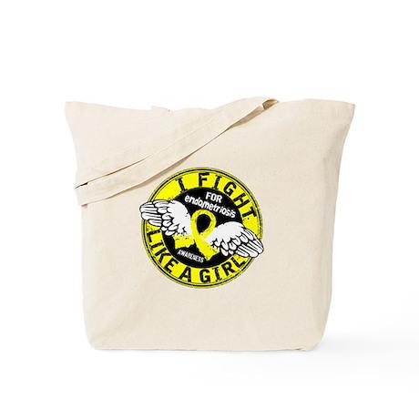 Licensed Fight Like A Girl 16.5 Endometri Tote Bag