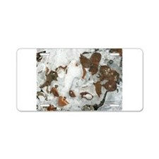 Leaves and Things Aluminum License Plate