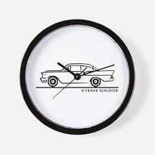 957 Chevrolet Sedan Wall Clock
