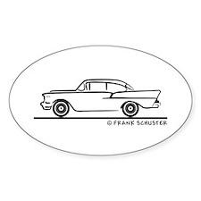 957 Chevrolet Sedan Stickers