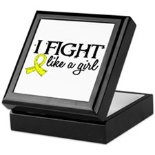 Licensed Fight Like A Girl 18.7 Endom Keepsake Box