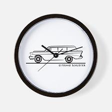 1957 Chevy 2-10 Stationwagon Wall Clock