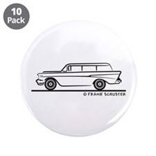 "1957 Chevy 2-10 Stationwagon 3.5"" Button (10 pack)"