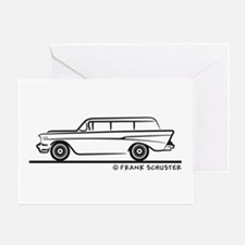 1957 Chevy 2-10 Stationwagon Greeting Card