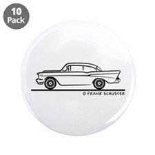 "1957 Chevy Sedan 2-10 Two Door 3.5"" Button (10 pac"