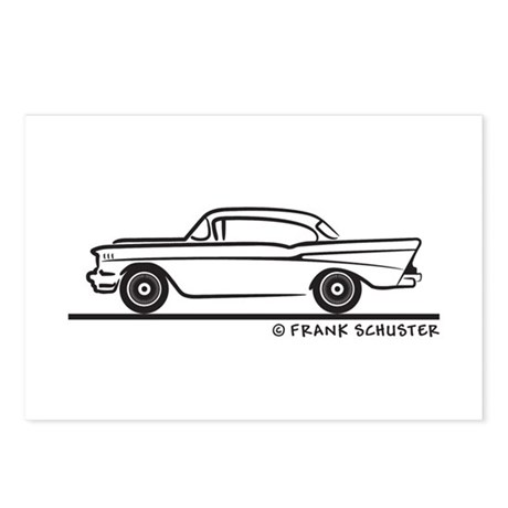 1957 Chevy Hardtop Coupe Postcards (Package of 8)