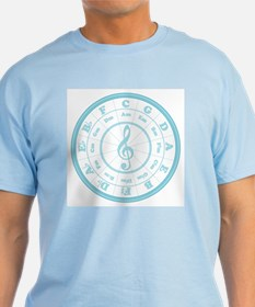 Blue Circle of Fifths T-Shirt