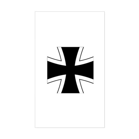 Iron Cross Sticker (Rectangle)