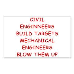 funny science joke Sticker (Rectangle)