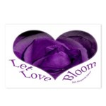Jenny's Purple Roses, Let Love Bloom Postcards (Pa