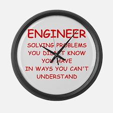 funny science joke Large Wall Clock