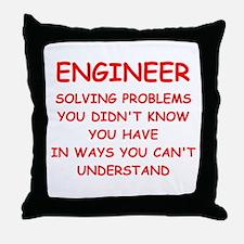 funny science joke Throw Pillow