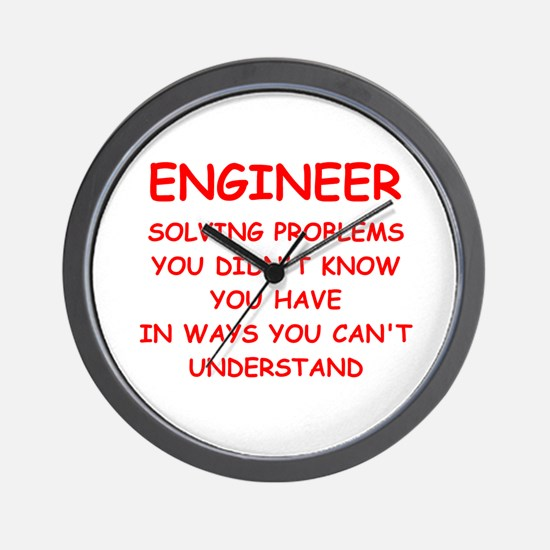 funny science joke Wall Clock