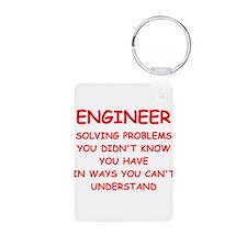 funny science joke Keychains