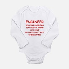 funny science joke Long Sleeve Infant Bodysuit