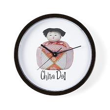 China Doll Wall Clock