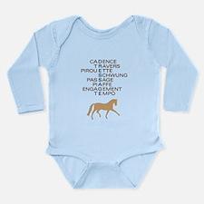 dressage speak Long Sleeve Infant Bodysuit