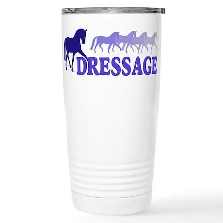 Dressage Horses (blue/purple) Stainless Steel Trav